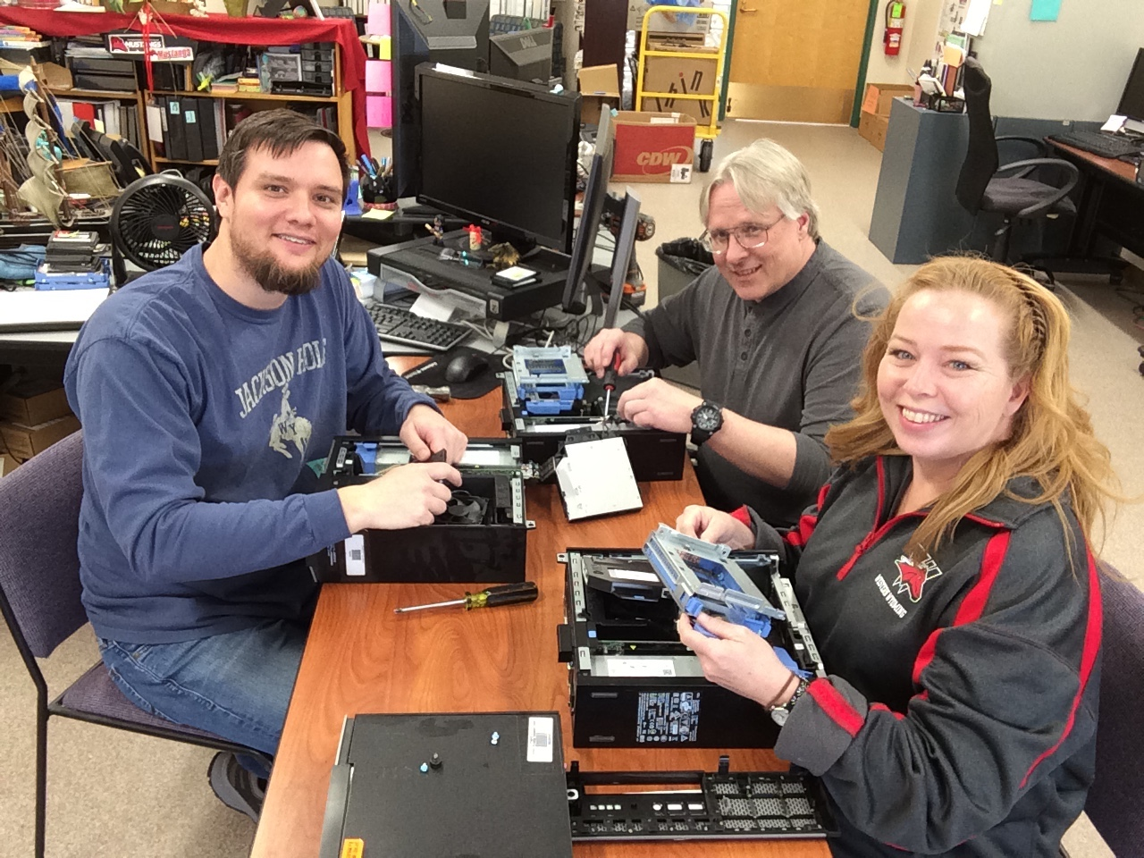 Western's IT Department work together to build computers to distribute to students in need.